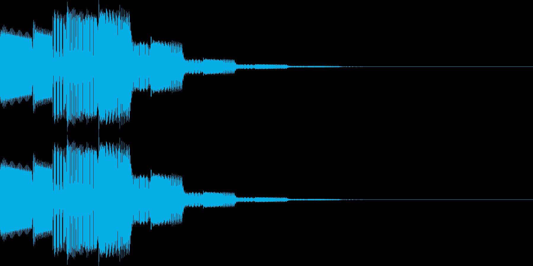 カーソル移動、決定(ピロリローン)の再生済みの波形