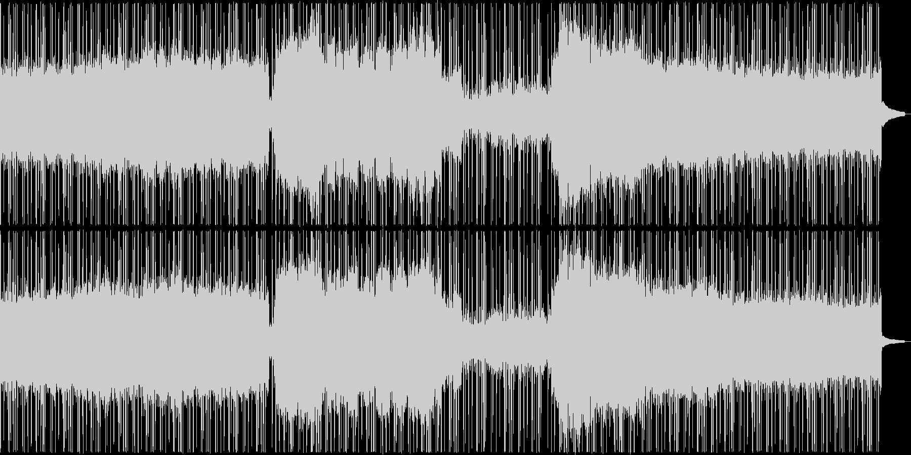 クールな和風ヒップホップの未再生の波形