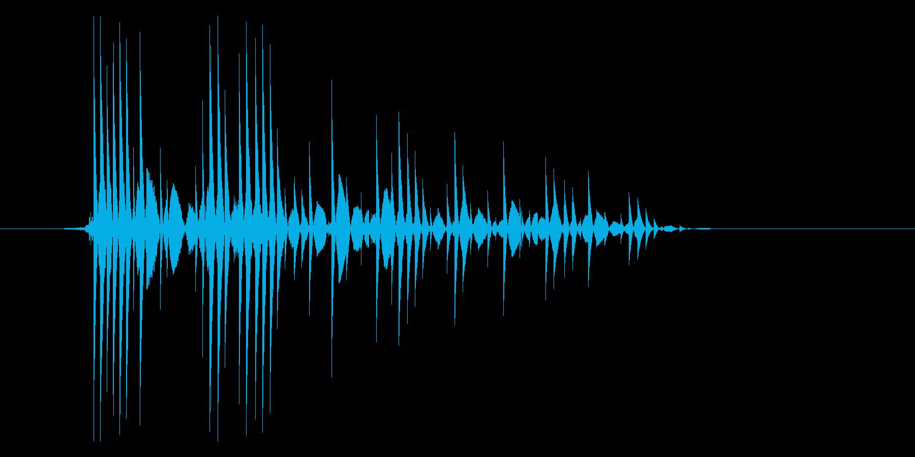 ゲーム(ファミコン風)爆発音_024の再生済みの波形