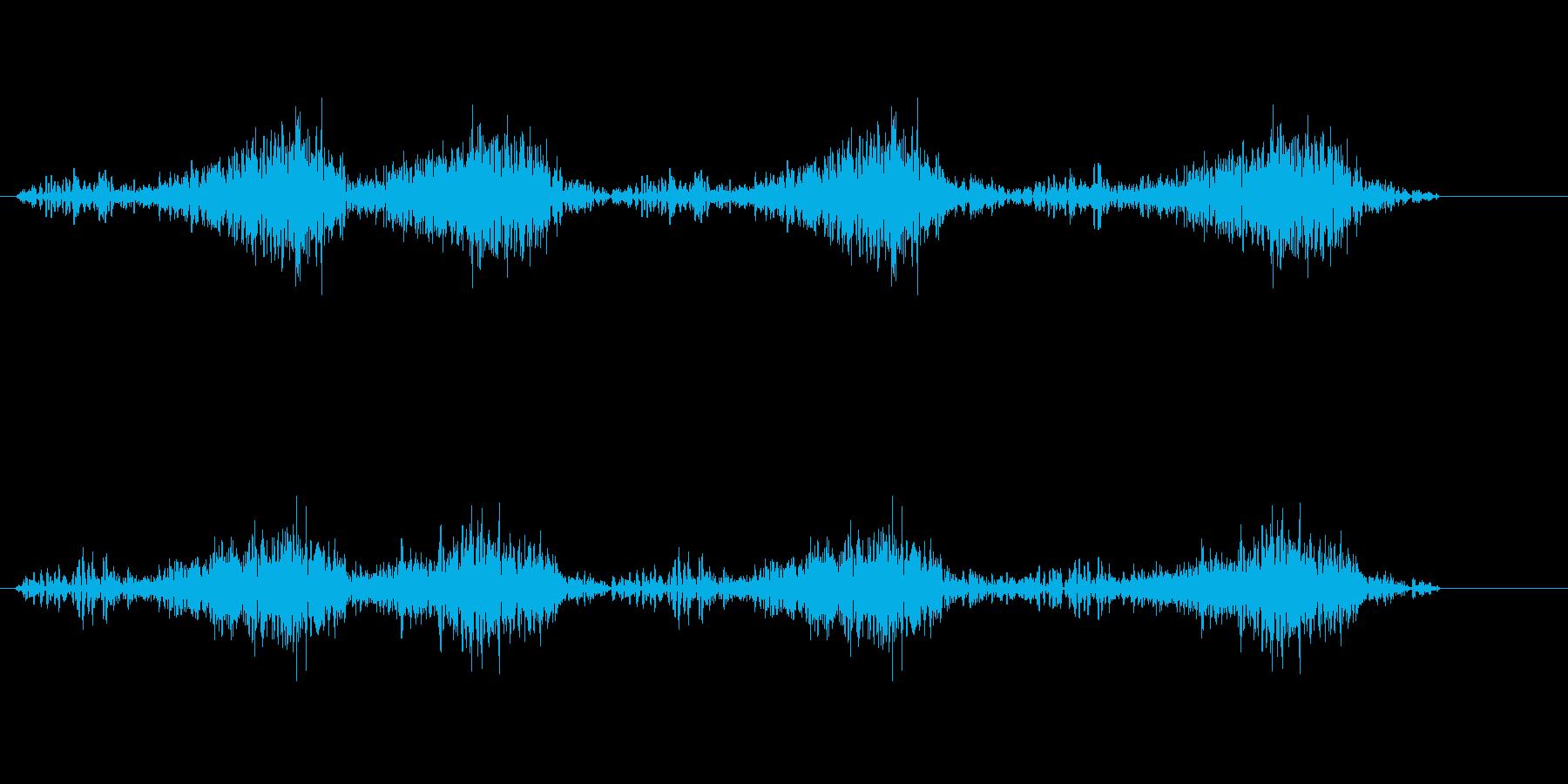 ササッサッサ(素早く字を書く音)の再生済みの波形
