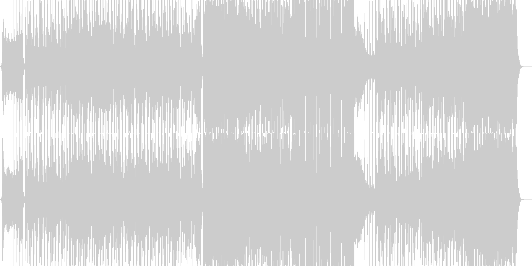 ベートーベン第九よりヒップホップ版の未再生の波形