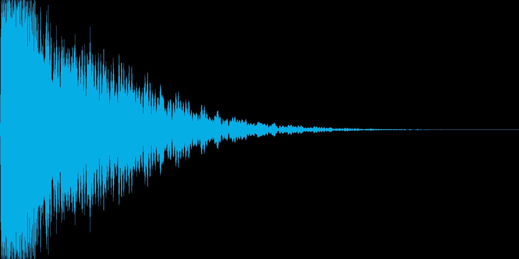光イメージ音 キュピーン_01_モノの再生済みの波形