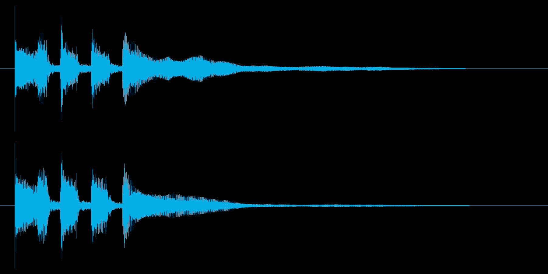 跳ね感のあるギターカッティングの再生済みの波形