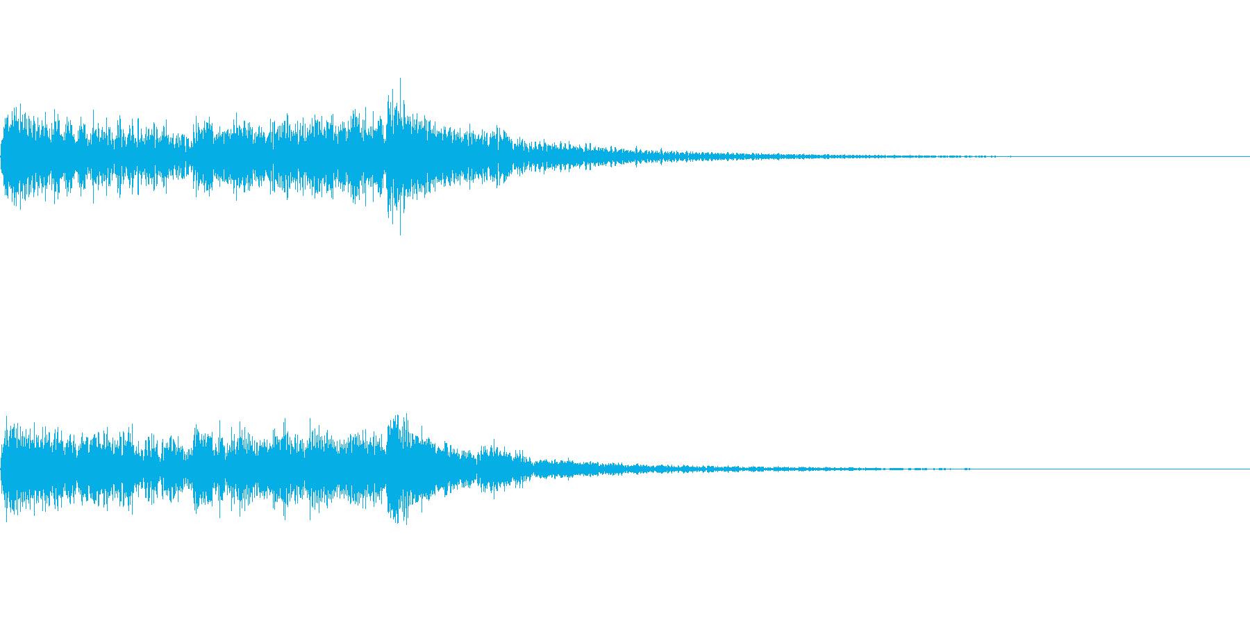 決定 和風03の再生済みの波形