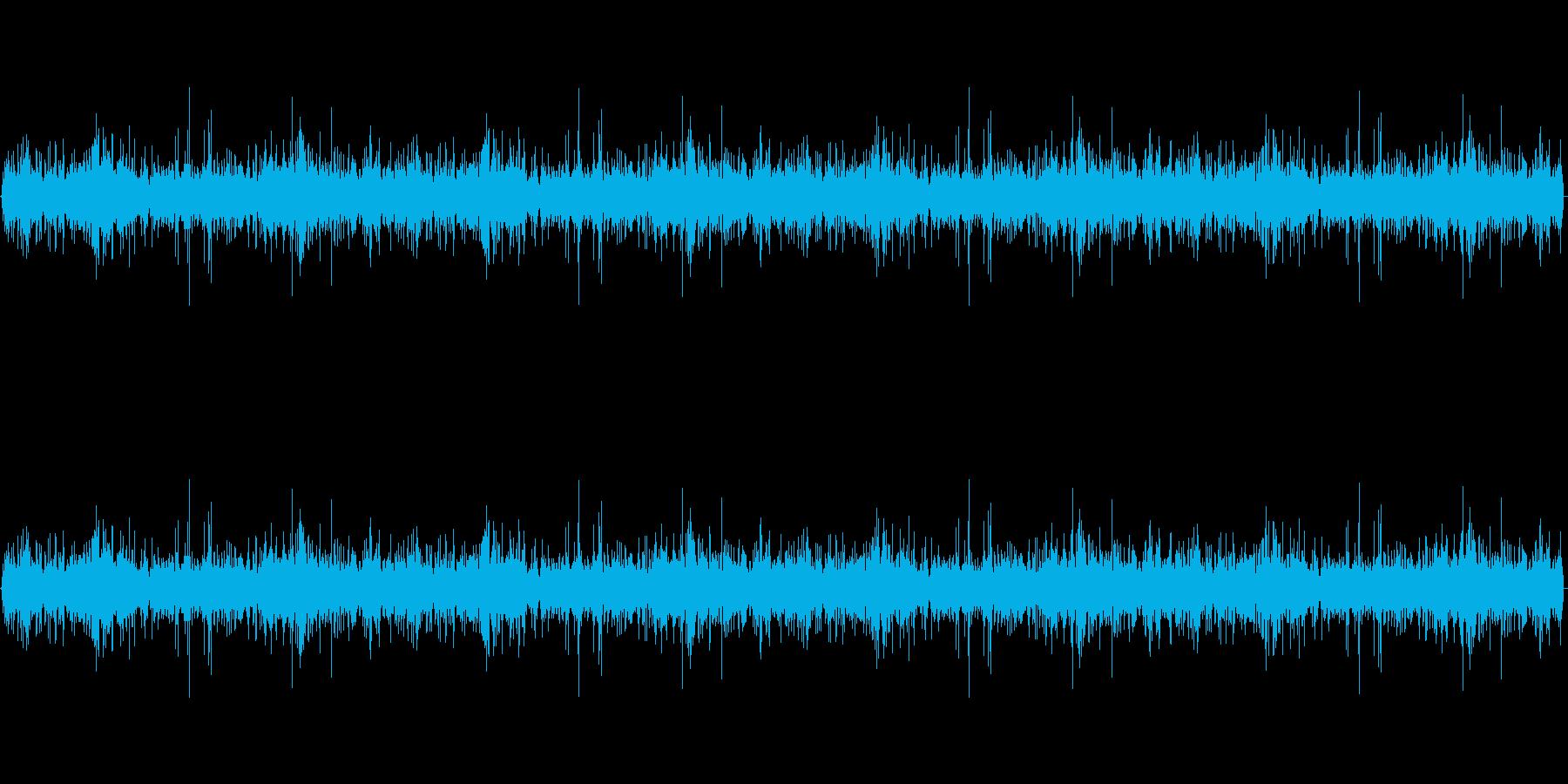 グツグツ煮える音の再生済みの波形