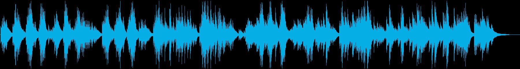 緩やかで優しいピアノクラシックの再生済みの波形