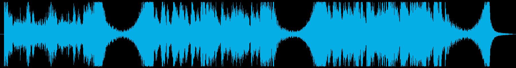映画トレーラー風のBGMの再生済みの波形