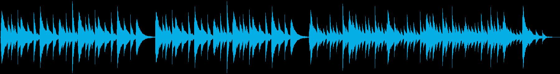 切ないピアノ楽曲(ループ仕様)の再生済みの波形