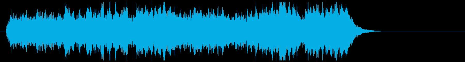 クイズの正解音風ロングバージョンジングルの再生済みの波形