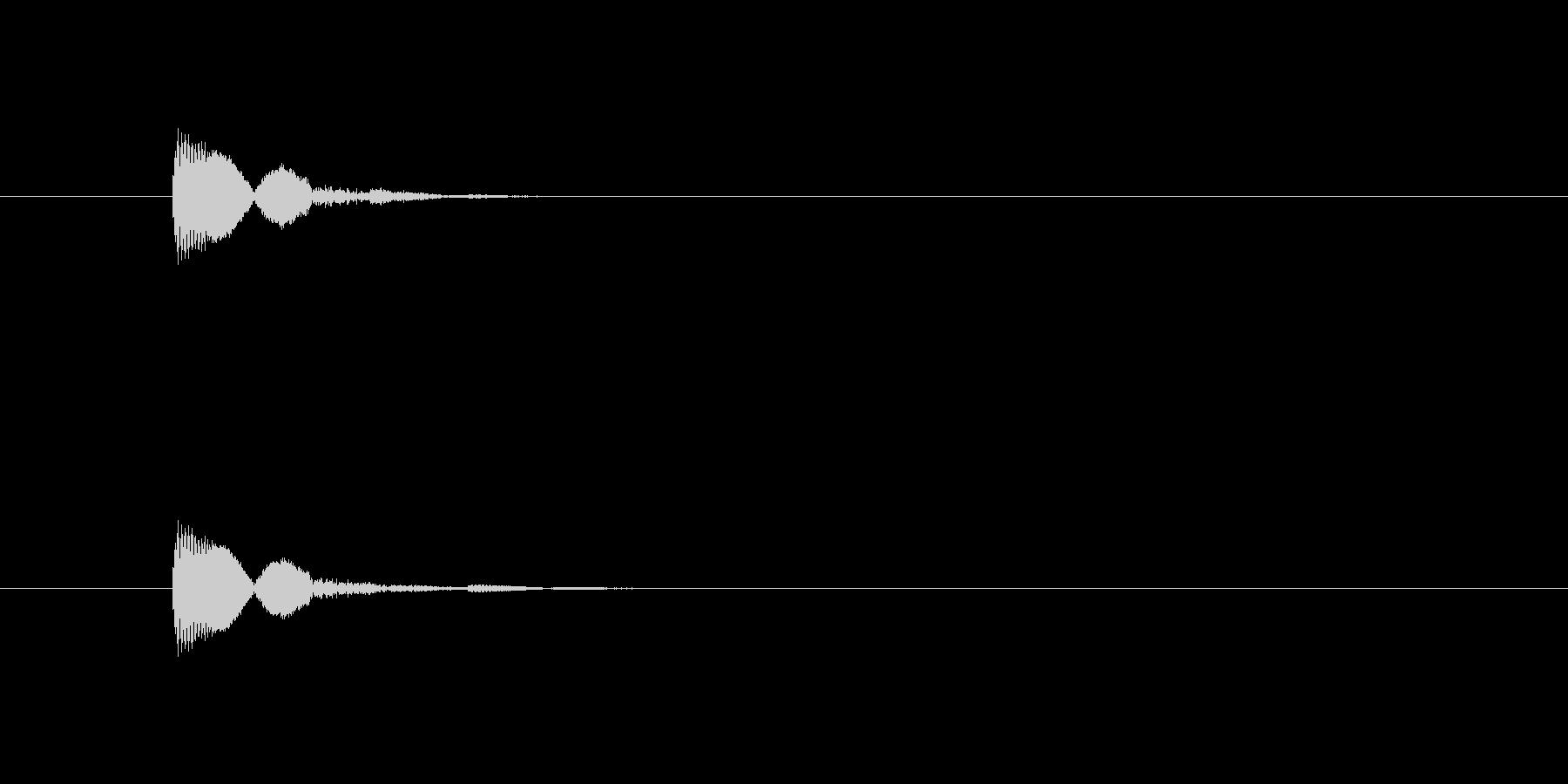 キャンセルや決定ボタン選択音2(ピコン)の未再生の波形