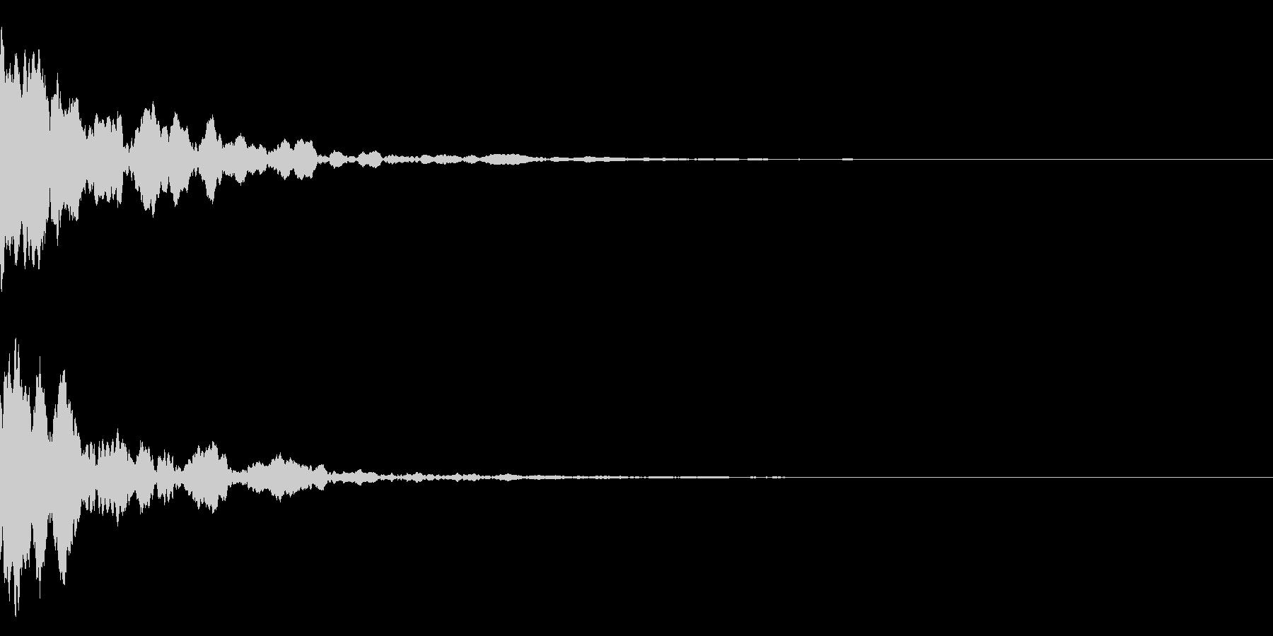 ポーン(ピアノの響く音)テロップなどにの未再生の波形