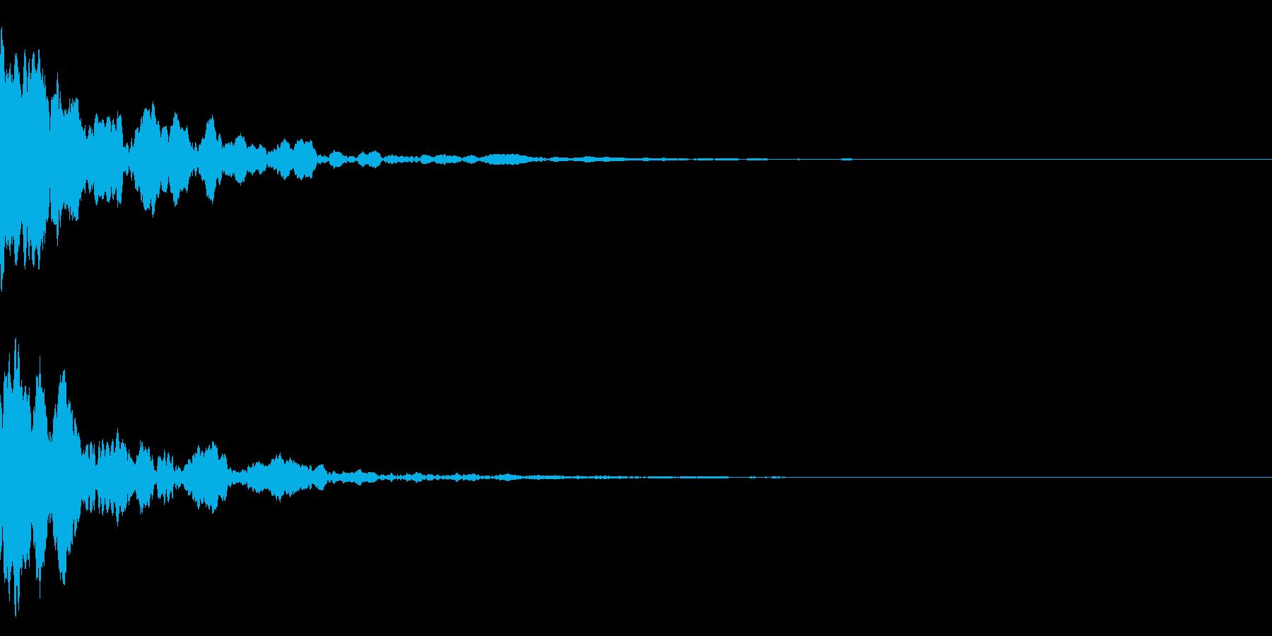 ポーン(ピアノの響く音)テロップなどにの再生済みの波形