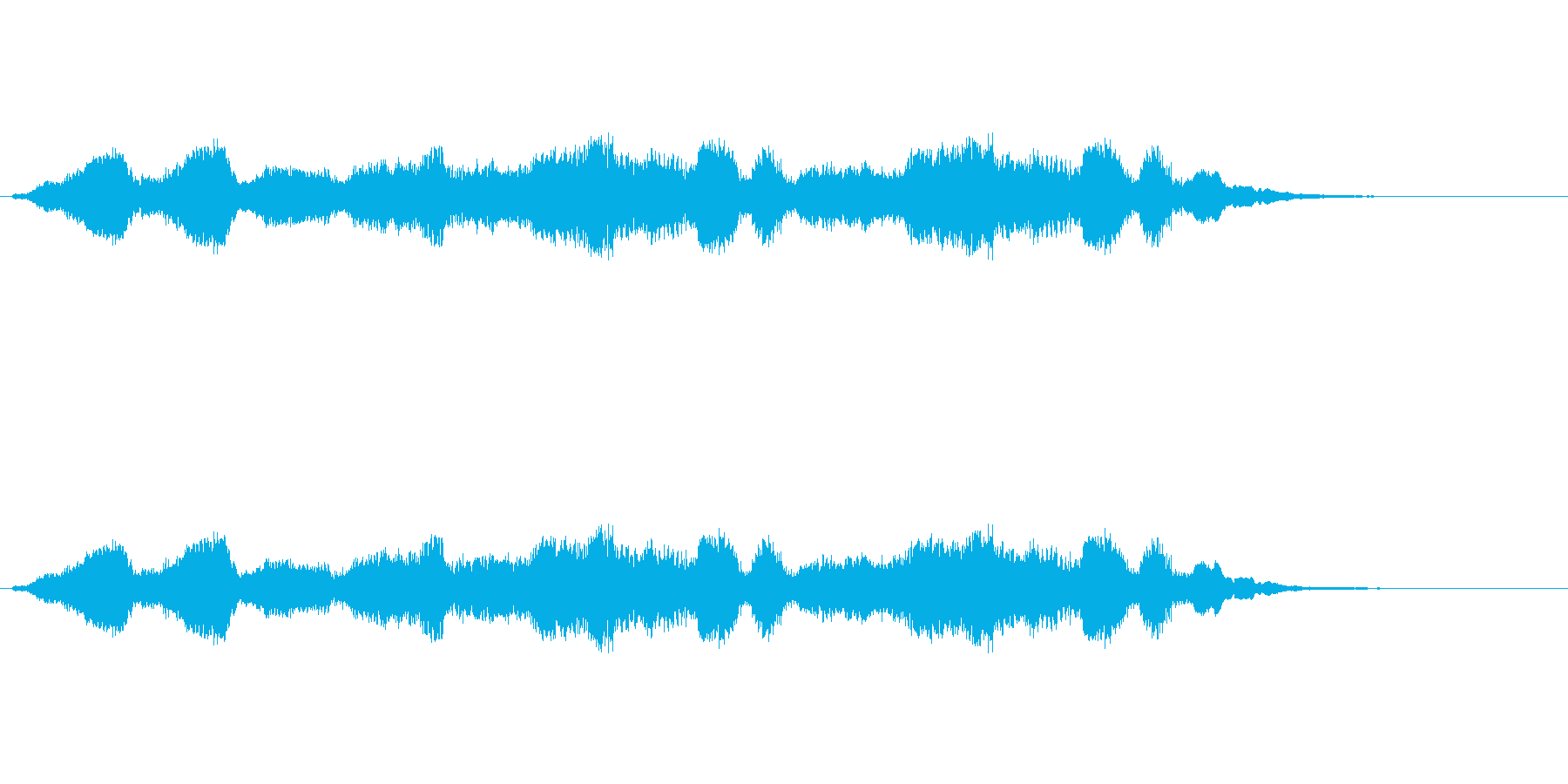 「昔風のコントのオチ」の再生済みの波形