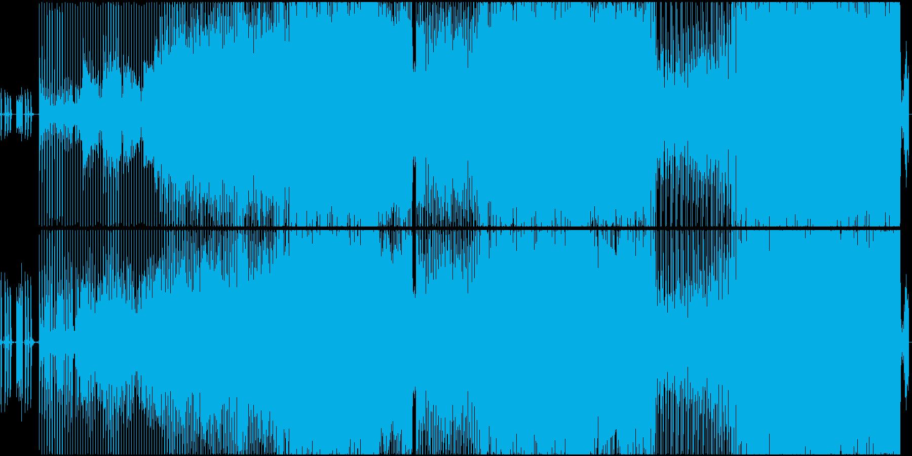 生演奏・ミドルテンポの暗い雰囲気のロックの再生済みの波形