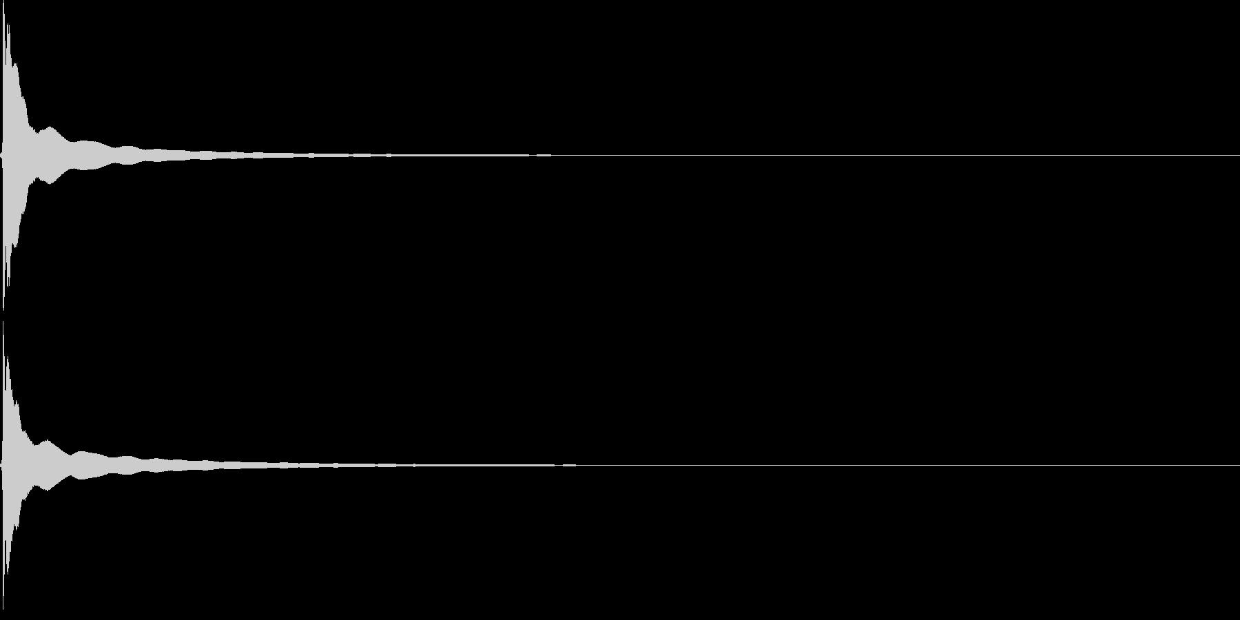 チーン(自転車のベル)1回【生録音】の未再生の波形