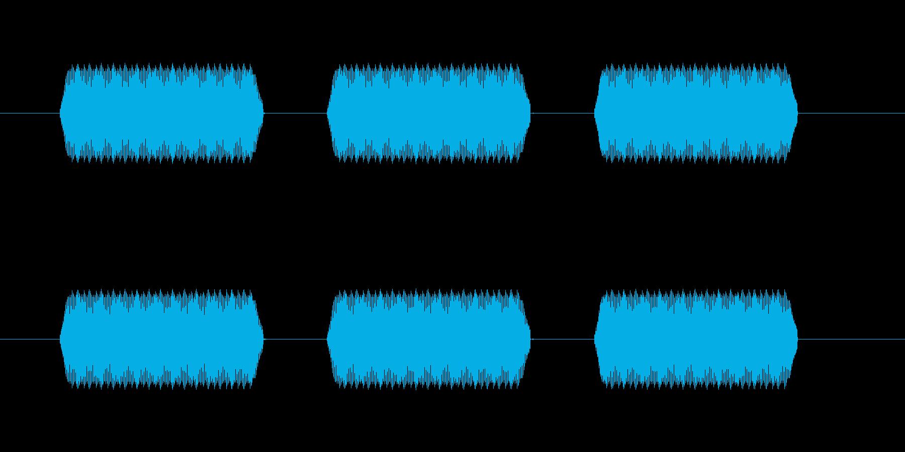 【汎用・セリフ音等】ピピピ(中)の再生済みの波形
