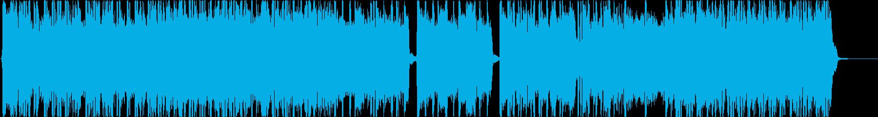 ヘビーメタル、ハードロック、リフ3の再生済みの波形
