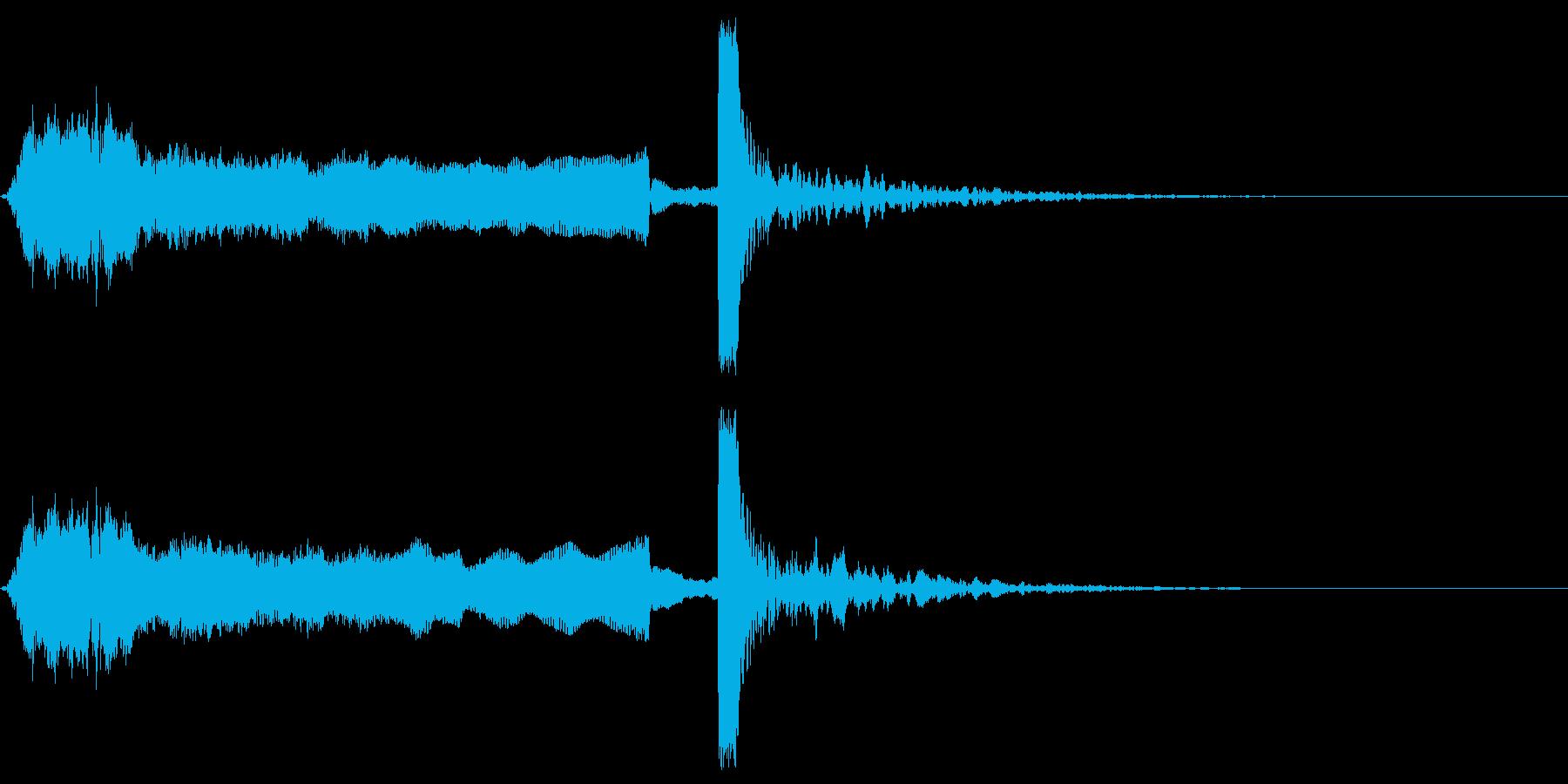 定番の「いよ〜PON!」和風SEの再生済みの波形
