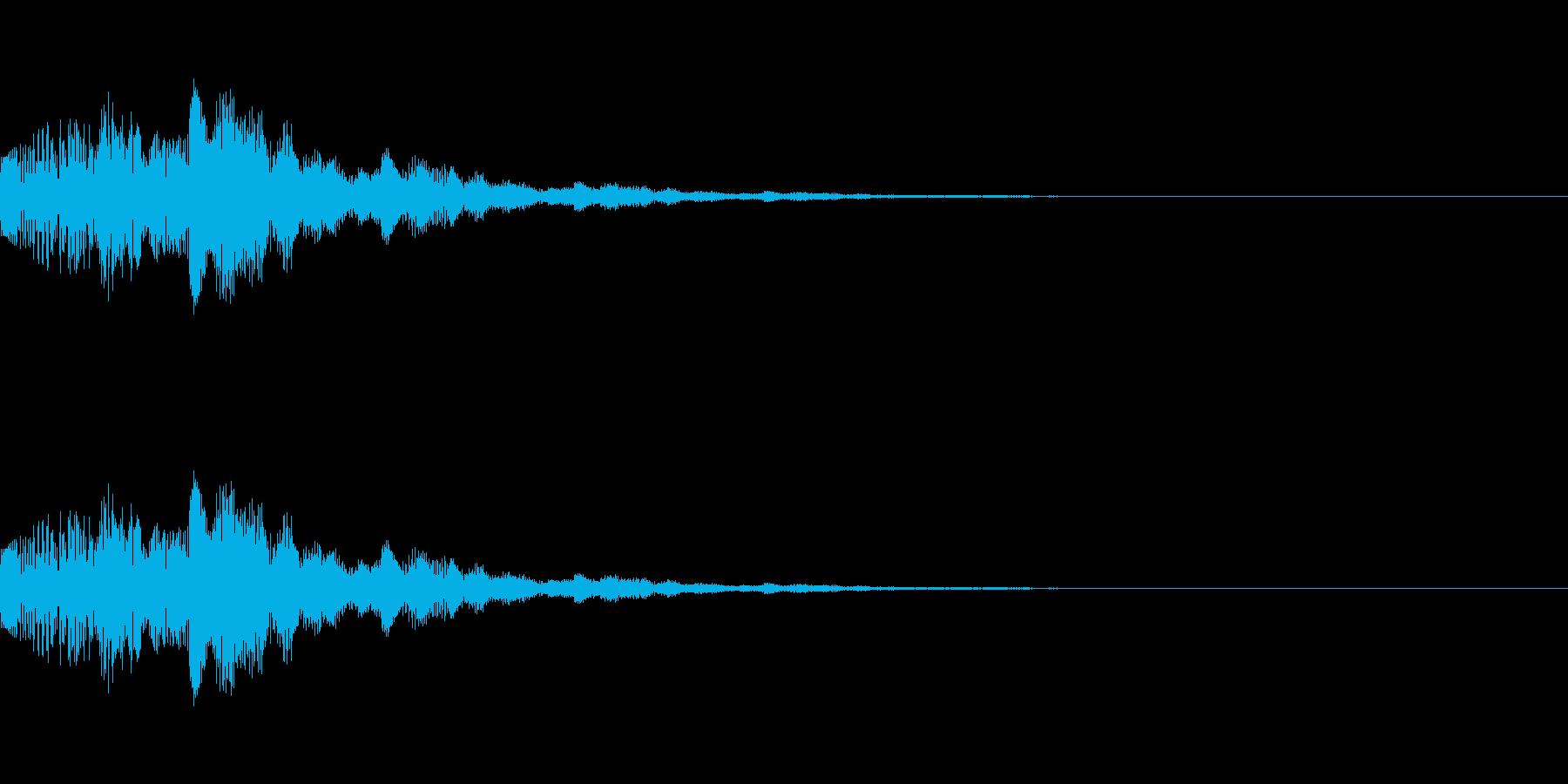 選択や決定等をイメージしたシステム効果…の再生済みの波形