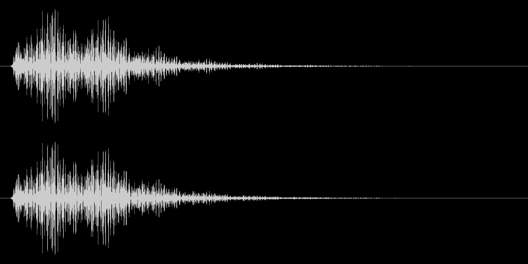 テクノロジーイメージ・エラー音(ブーン)の未再生の波形