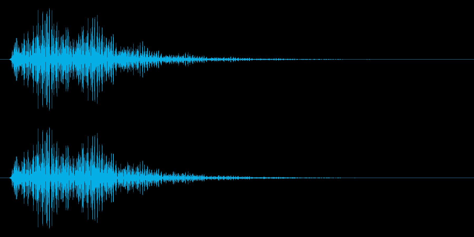 テクノロジーイメージ・エラー音(ブーン)の再生済みの波形
