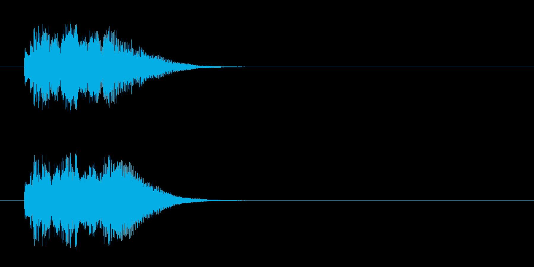 ジングル/神秘的・実験結果(環境)の再生済みの波形