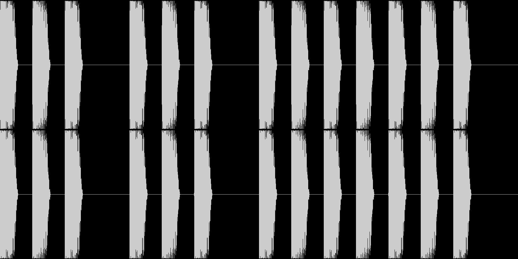 三三七拍子 その6 ドンドンドンの未再生の波形