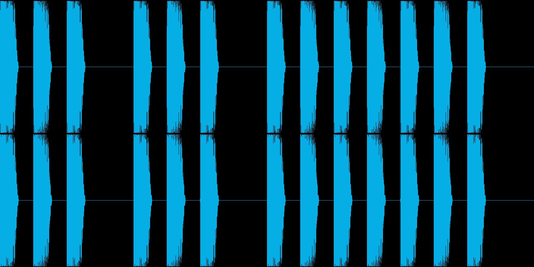 三三七拍子 その6 ドンドンドンの再生済みの波形