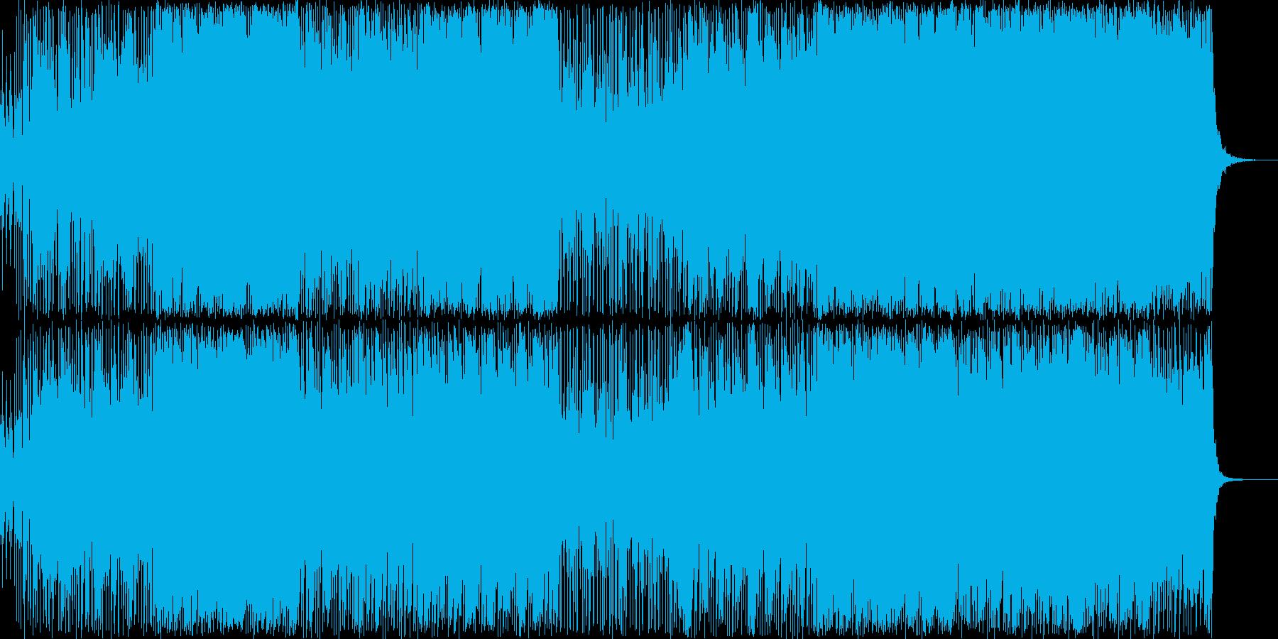 イントロがカッコイイロック曲の再生済みの波形