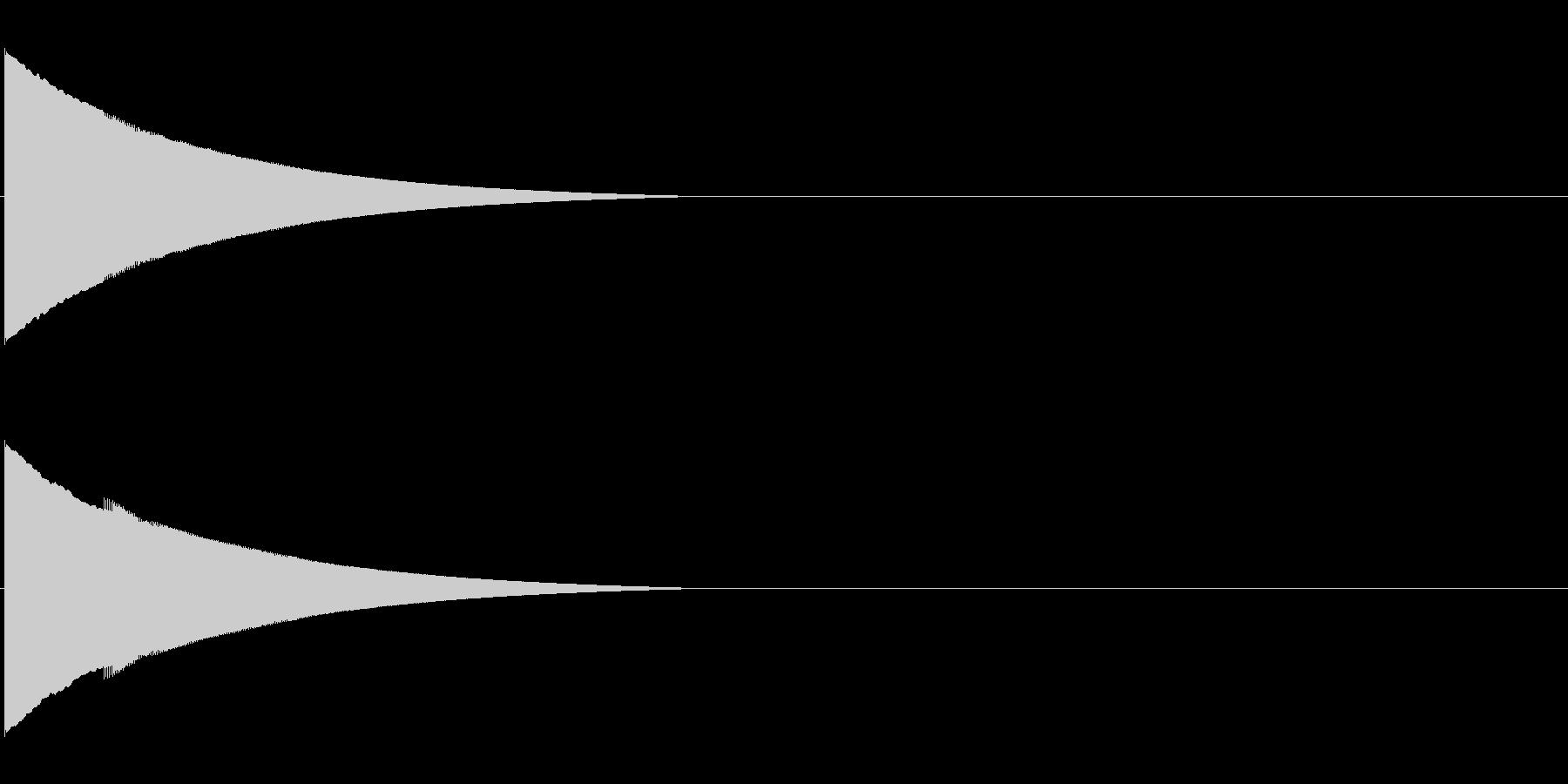 ピローン、ピコーンといった効果音 高いラの未再生の波形