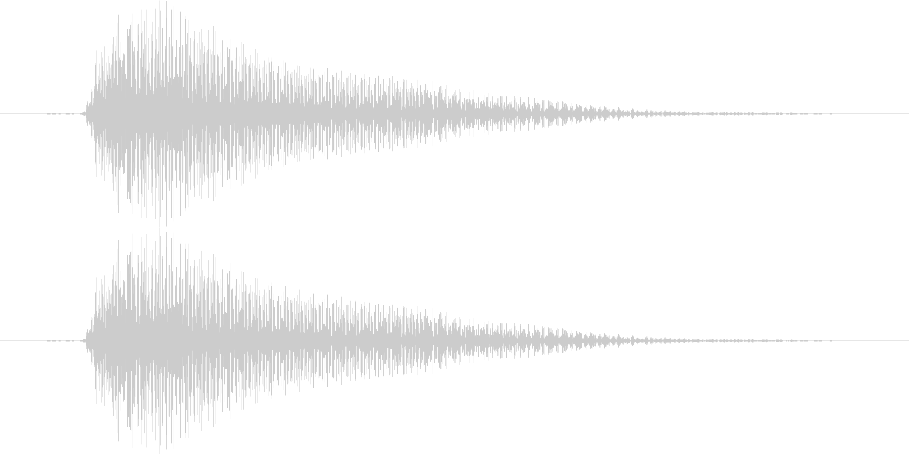 ブイーン(レーザー、不正解、アプリ)の未再生の波形