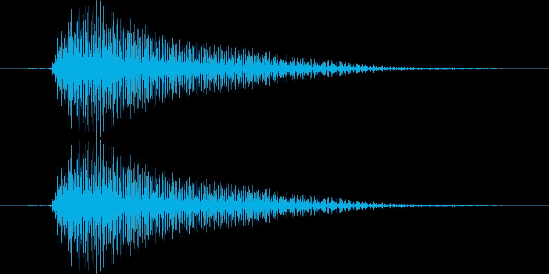 ブイーン(レーザー、不正解、アプリ)の再生済みの波形