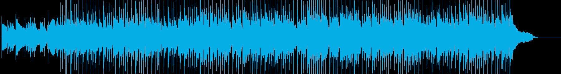 ドライブをイメージしたわくわくポップスの再生済みの波形