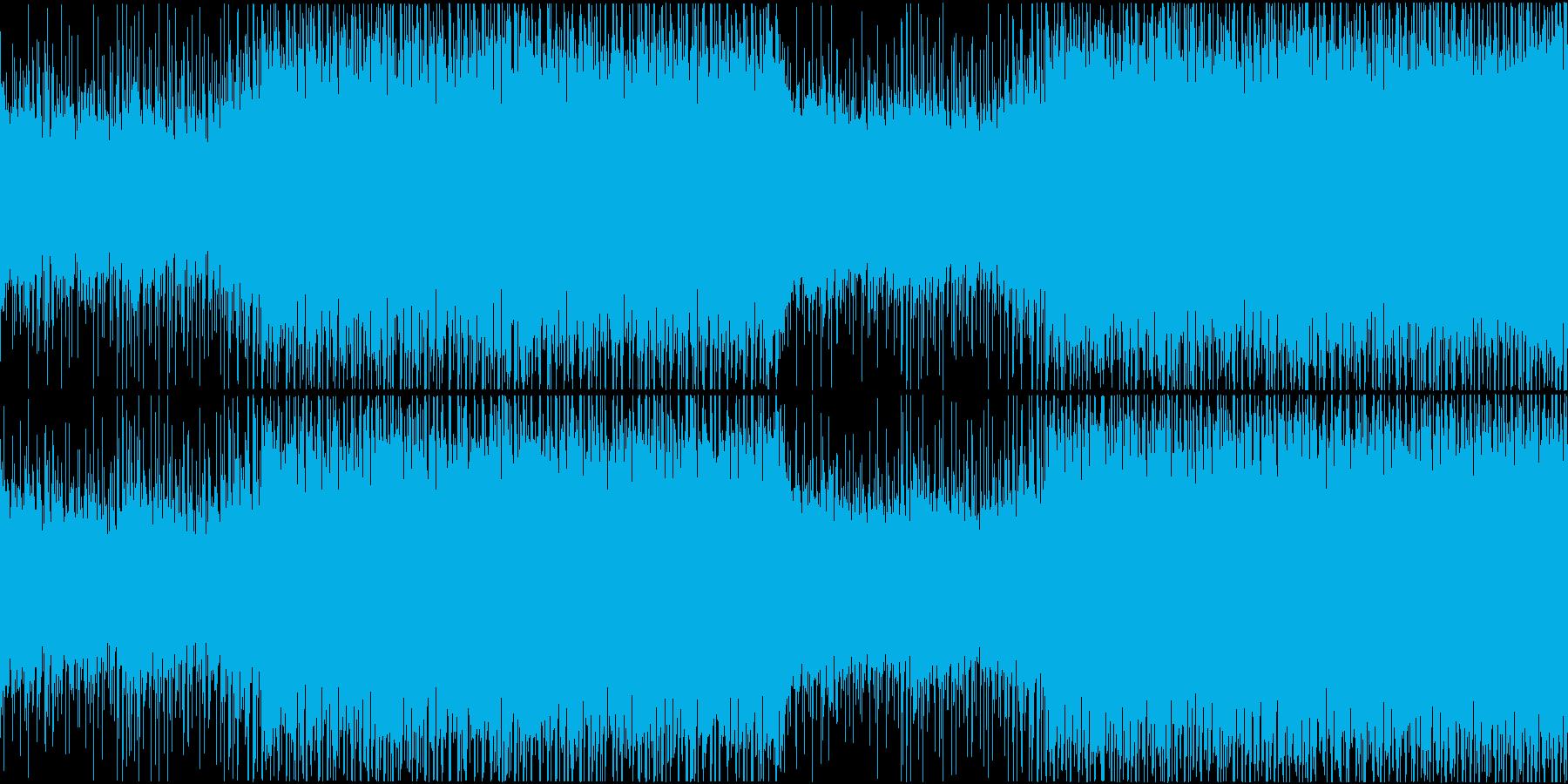 爽やかで軽快なハウスミュージックループの再生済みの波形