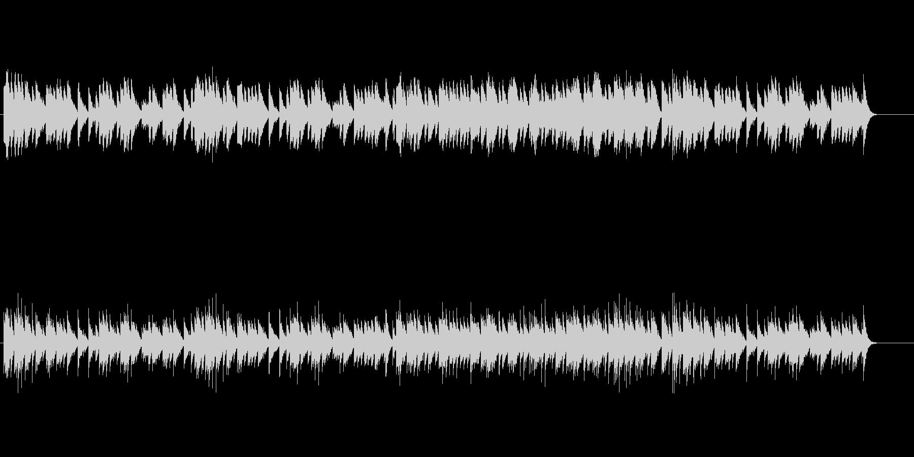 クラシカルなオルゴール・ミュージックの未再生の波形