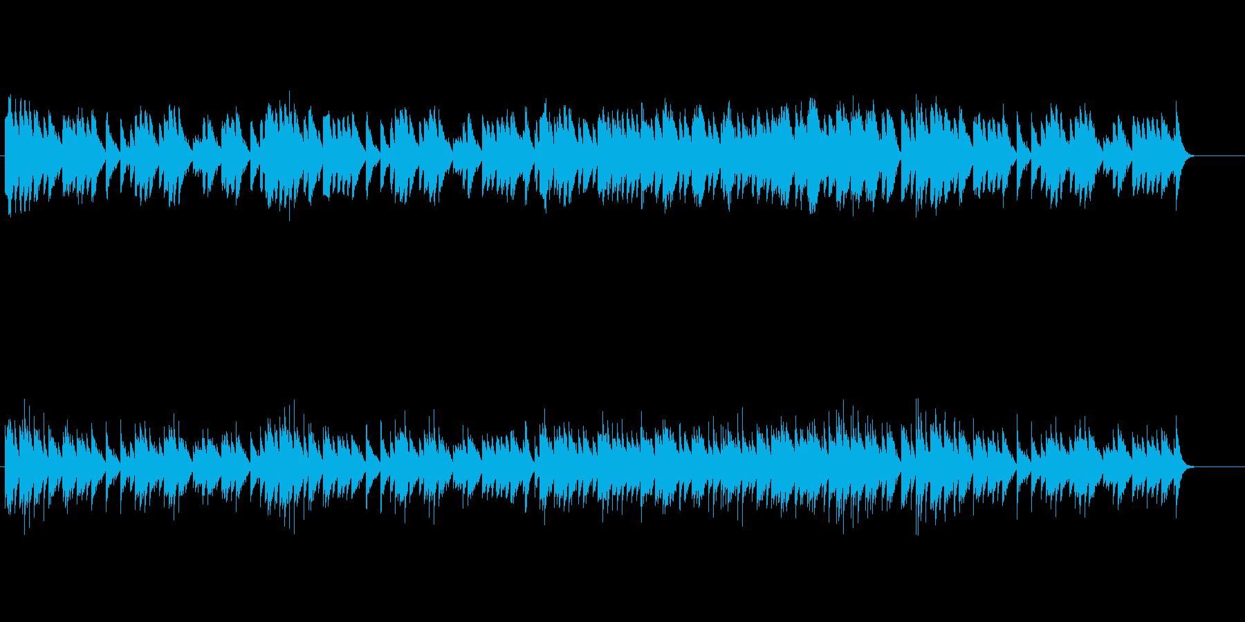 クラシカルなオルゴール・ミュージックの再生済みの波形