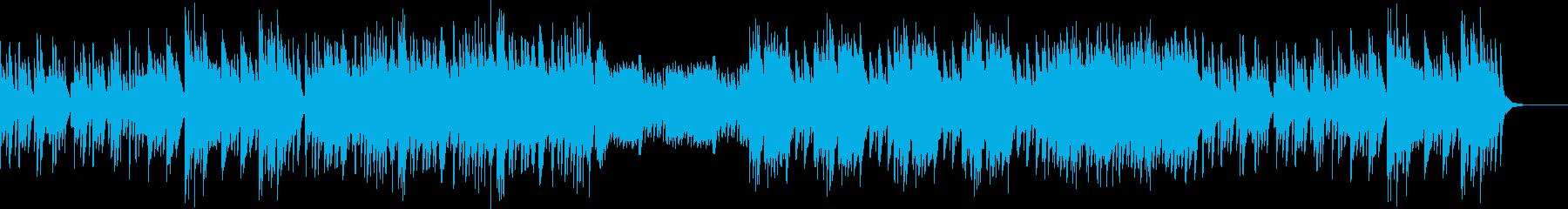 静かで切ない系のピアノ曲の再生済みの波形