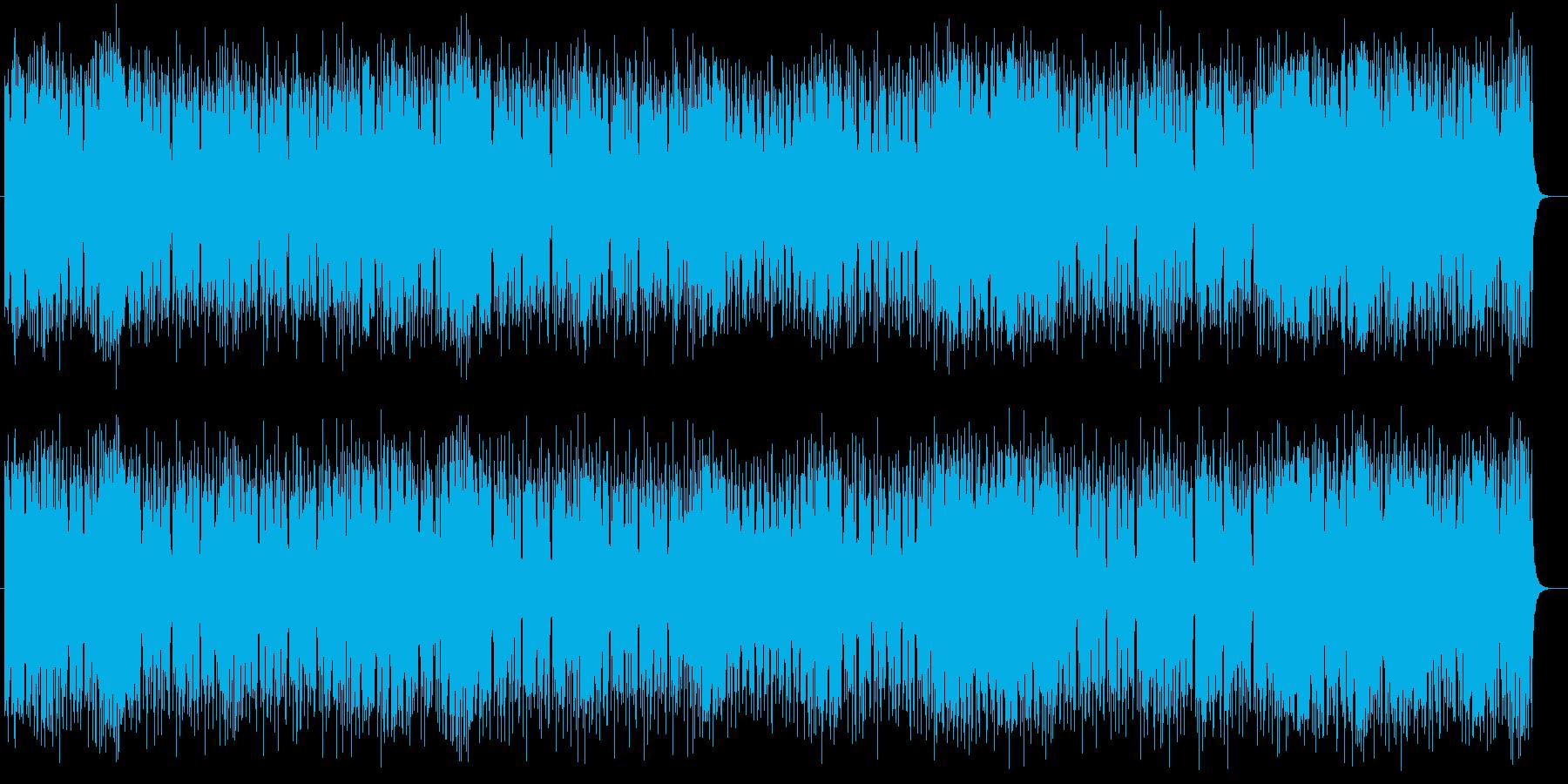 速いテンポの爽快感溢れるポップスの再生済みの波形