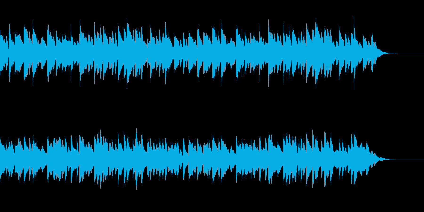 日常的なほのぼのコミカル曲の再生済みの波形