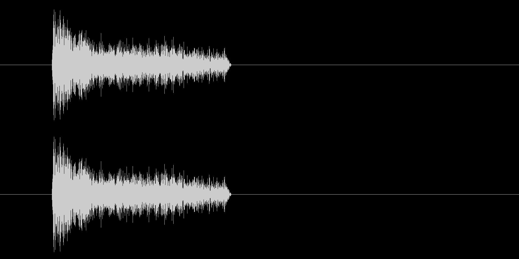 ジャン!懐かしのオケヒその1_音程低めの未再生の波形