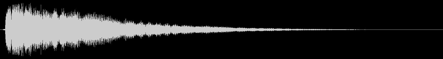 キラーン【複数形】鉄琴系 上昇音形の未再生の波形