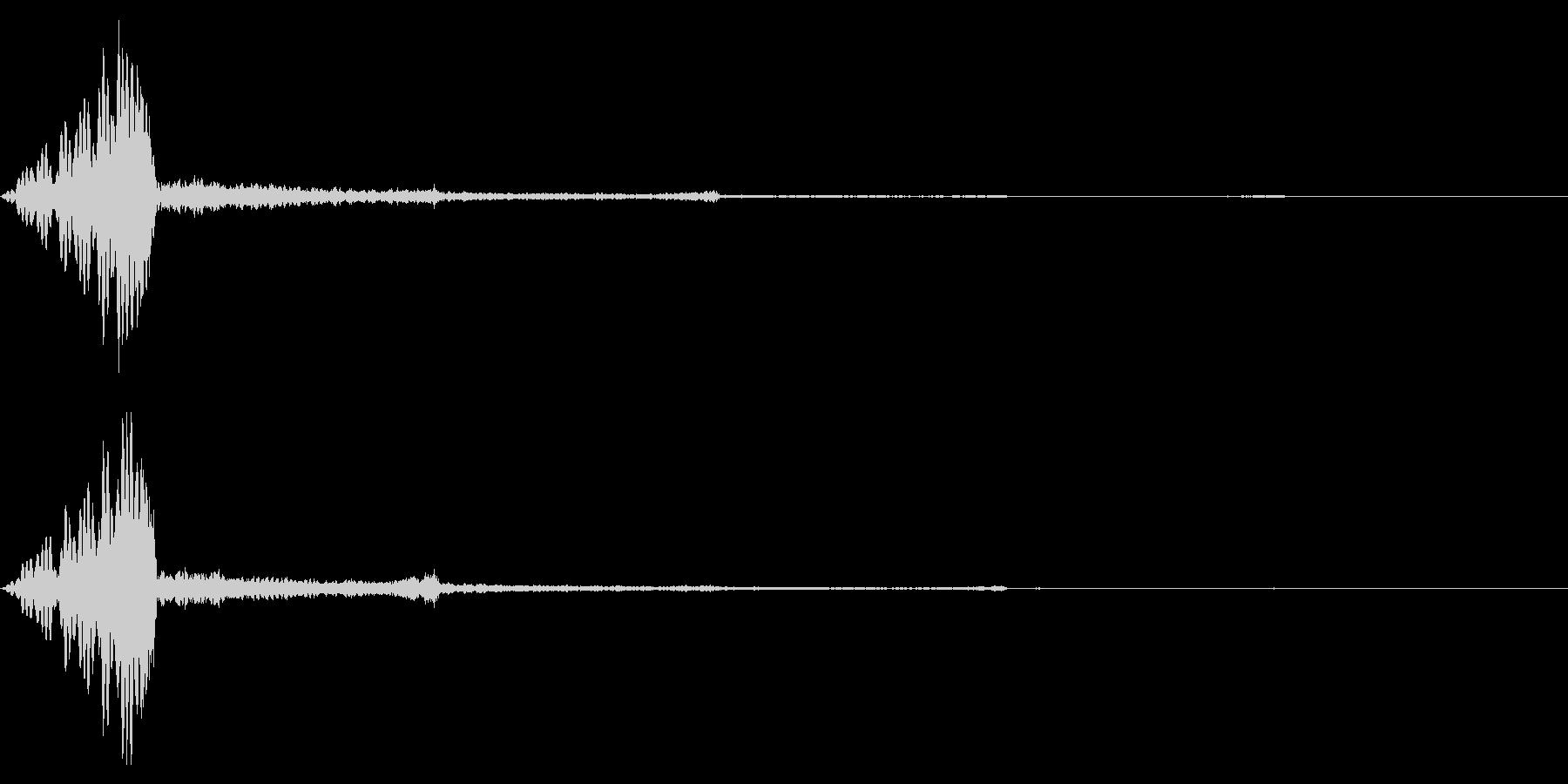 ホラー系アタック音84の未再生の波形