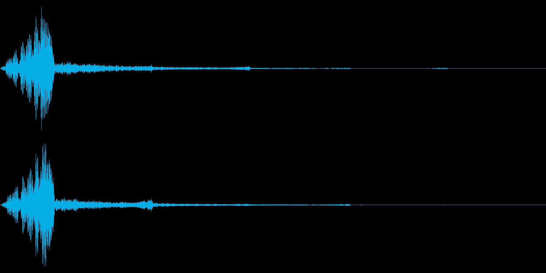 ホラー系アタック音84の再生済みの波形