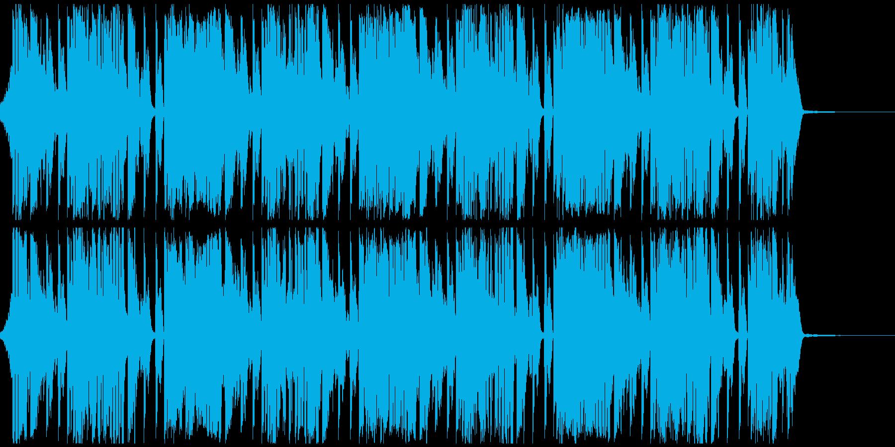 さわやかで行動的なイメージの再生済みの波形