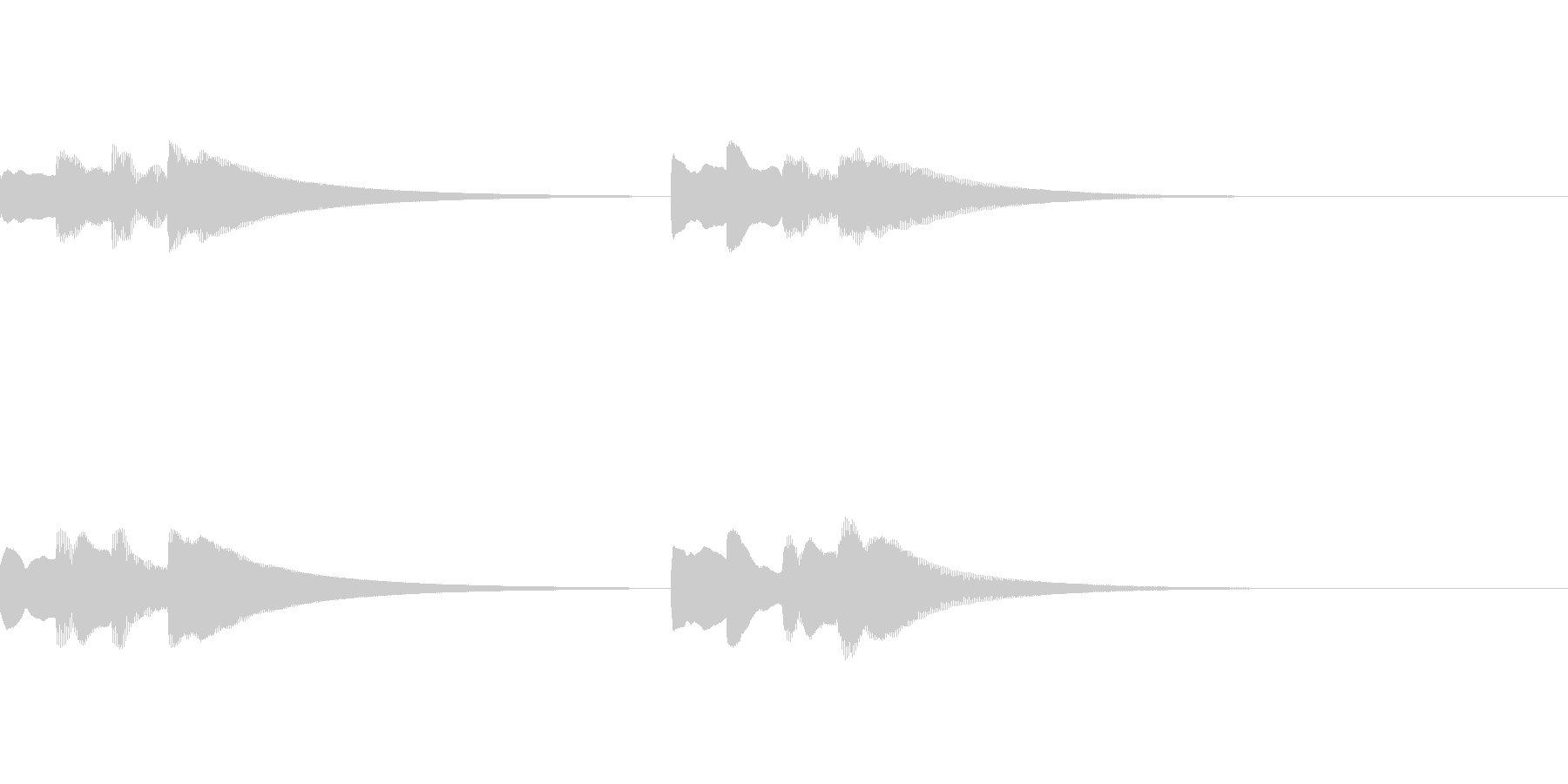 シンプルなピンポンパンポンチャイムの未再生の波形