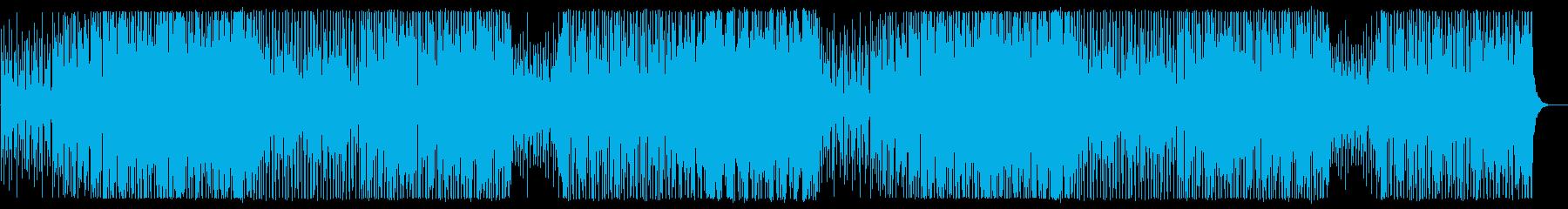 ベース音の効いた変則的ファンクの曲の再生済みの波形