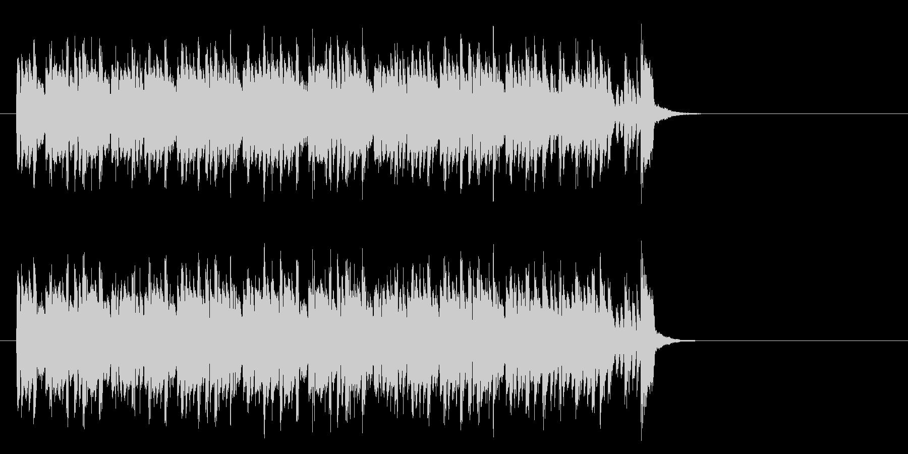 キャッチーなテクノポップ(サビ)の未再生の波形
