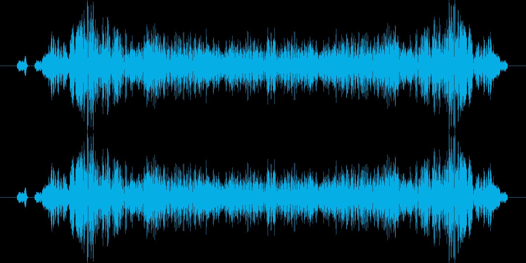 ビリュリュリュ、キュルキュルの再生済みの波形