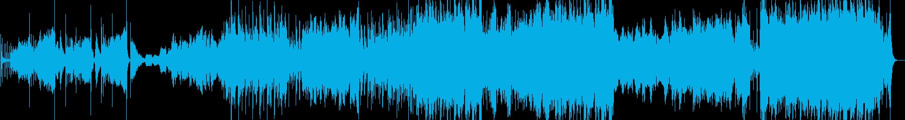 中国風の壮大な曲の再生済みの波形