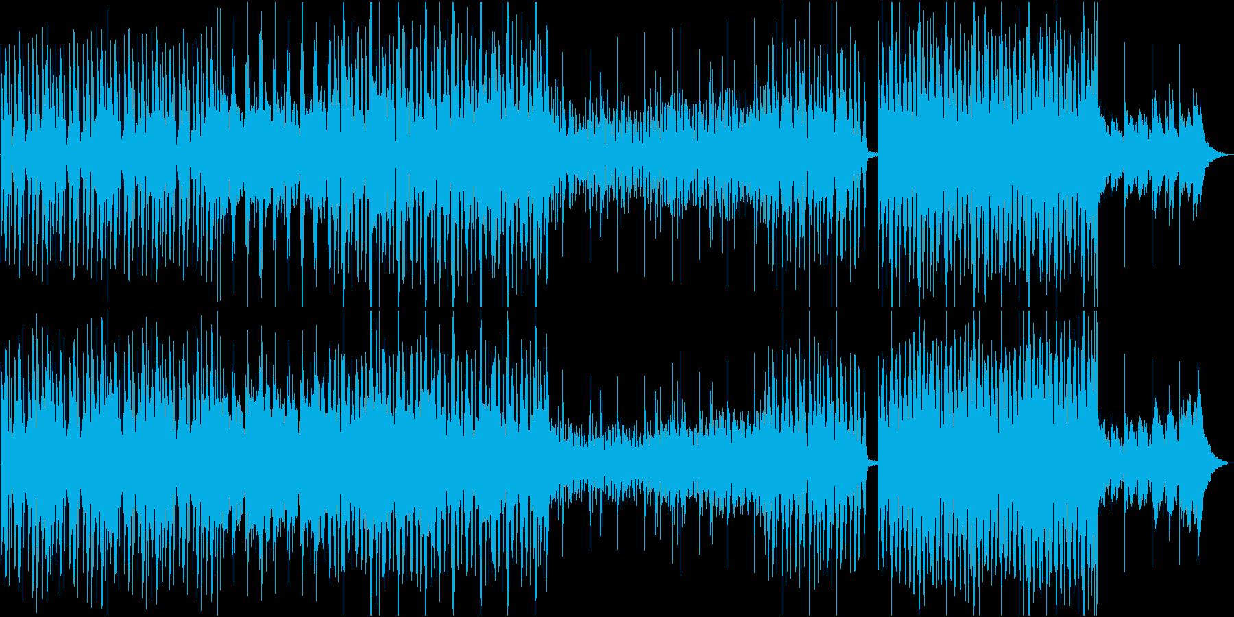 アンビエント、エレクトロニカ系BGMの再生済みの波形